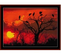 Botswana Sunset, Africa - Chart or Kit