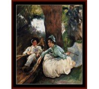 By the River by Sargent - Chart or Kit