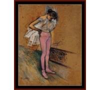 Dancer Adjusting Her Tights - Chart or Kit