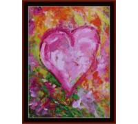 Flowered Heart - Chart or Kit