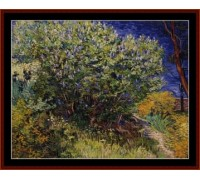 Lilac Bushes by Van Gogh - Chart or Kit