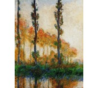 Three Trees In Autumn Chart or Kit