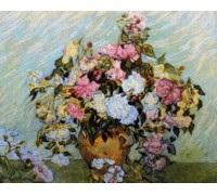 Vase of Roses II - Chart or Kit