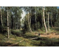 Brook in Birch Forest Chart or Kit