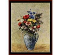 Flowers in Blue Vase - Chart or Kit