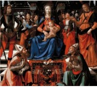 Madonna Enthroned with Saints Chart or Kit