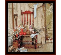 Spring Flowers by Norman Rockwell - Chart or Kit
