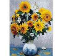 Sunflowers on Blue Table Chart or Kit