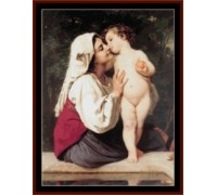 The Kiss by Bouguereau - Chart or Kit