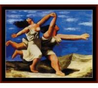Women Running on the Beach - Chart or Kit