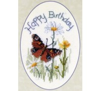 Butterfly and Daisies Birthday Card Kit - CDG24