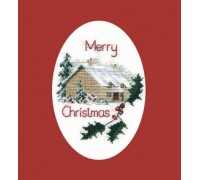Christmas Cottage Greeting Card Kit - CDX26