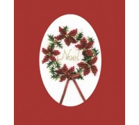 Christmas Wreath Greeting Card Kit - CDX27