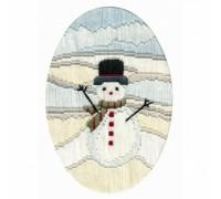 Frosty Snowman Long Stitch Card - CDX37