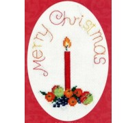 Fruit With Candle Christmas Card Kit - CDX36