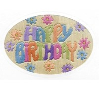 Happy Birthday Long Stitch Card - CDG21