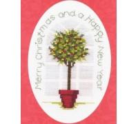 Holly Tree Christmas Card Kit - CDX32