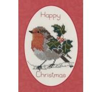 Holly and Robin Christmas Card Kit - CDX18