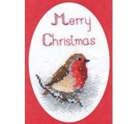 Snow Robin Christmas Card Kit - CDX03
