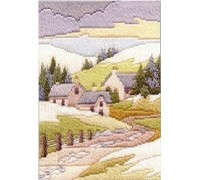 Winter Cottage Long Stitch Kit - MLS12