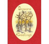Winter Trees Christmas Card Kit - CDX15