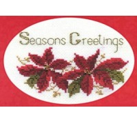 Poinsettias Christmas Card Kit - CDX02