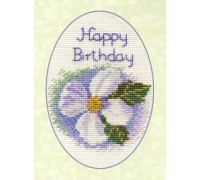 White Clematis Birthday Card Kit - CDG08