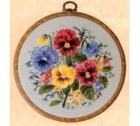 Pansies Embroidery - E139