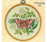 Peacock Butterfly Embroidery - E156