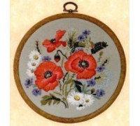 Poppies Embroidery Kit - E137