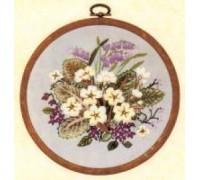 Primroses Embroidery - E135