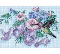 Hummingbird and Morning Glories - 6971 - 16ct