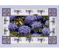 Hydrangeas and Dragonflies - 6833 - 16ct