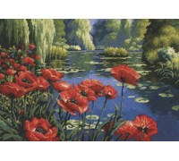 Lakeside Poppies Tapestry - D20066