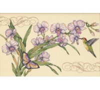 Orchids and Hummingbird - D35237