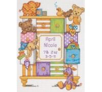 Baby Drawers Birth Sampler - D73538