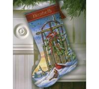 Christmas Sled Stocking - D08819