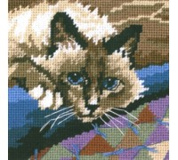Cuddly Cat Mini Tapestry - D07228