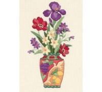 Elegant Floral Crewel Embroidery - D06230