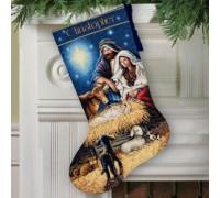 Holy Night Christmas Stocking - D70-08838