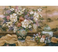 Oriental Splendor Crewel Embroidery - D01499