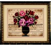 Parisian Bouquet Crewel Embroidery - D01542