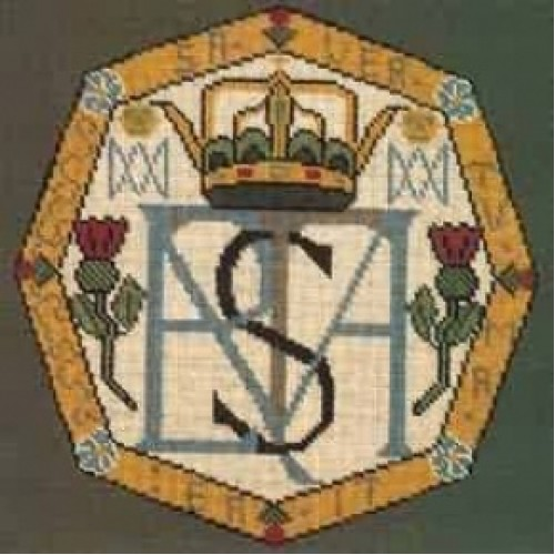Mary Queen Of Scots Monogram Tapestry Charted Kitdundonald Tapestry
