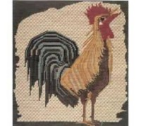 Mosaic of a Cockerel Tapestry - Charted Kit