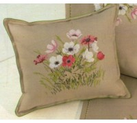 Anemones Cross Stitch Cushion - 01-4401H - 14ct
