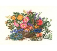Basket of Summer Flowers - 14-279C - 26ct