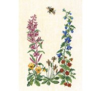 Bee and French Willow Flowers - 12-258B - 30ct