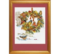 Birds Christmas Wreath