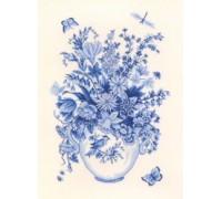 Flower Vase in Blue - 12-646C - 26ct