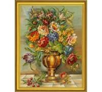 Bronze Vase Floral Bouquet - 12-587E - 19ct